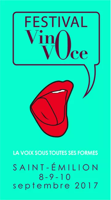 Affiche Festival Vino Voce 2017 St Emilion